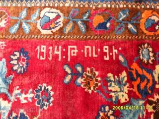 Caucasian Karabagh Perfect Carpet size: 215x135 cm.