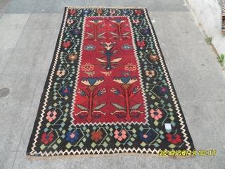 Armenian Karabag Kilim size: 217x130 cm.