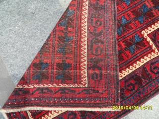 Antique Türkmen Belüç Prayer Carpet size: 115x90 cm.