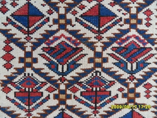 Antıque Caucasian Şirvan Marashali Prayer Carpet. size: 172x85