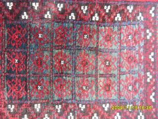 Antique Türkmen Baluch Prayer Carpet size: 122x85 cm.