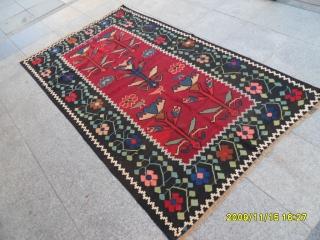 Antique Karabag Kilim size: 220x131 cm.