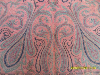 Antique Kirman Textile Perfect Size: 210x143