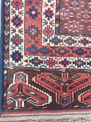 Antıque Türkmen Yamout Ensi Carpet size: 190x140 cm.