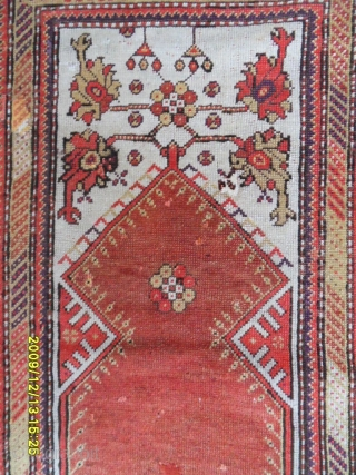 Antıque Anatolian Ada Milas Prayer carpet size: 160x115 cm.