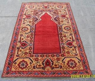 Antique Transilvanya Tuduk Prayer Carpet size: 195x130 cm.