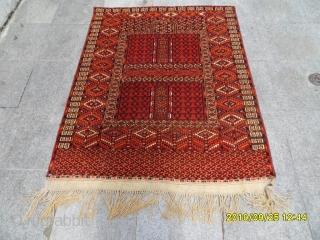 Antıque Türkmen Ensi Prayer Carpet size. 145x120 cm: