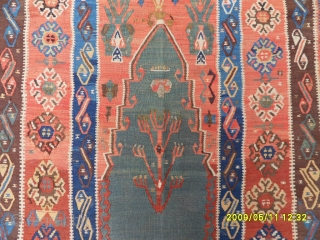 Antıque Anatolian Erzurum Prayer Kelim size: 175x123 cm.