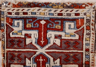 Anatolian Yastik fragment with good pile and great colors. 57x37 cm.