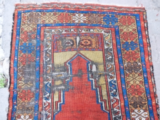 Antique Anatolian Village Prayer Rug