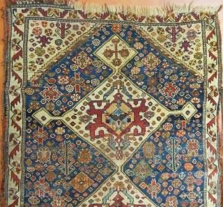 Antique Qashqaii Rug  Size.130x90cm