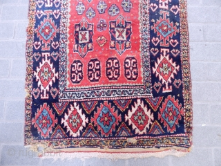 Antique Shahsavan Cut Rug