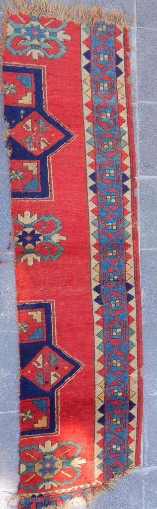 Antique Caucasian Fahrola Rug Fragment