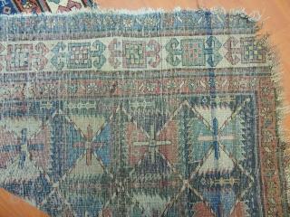 Antiaque Susa Karabag Rug Fragment  Size.195x84cm