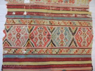 Antique Anatolian Helvacı Kilim