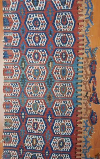 Antique Sought East Anatolian Kilim Fragment Size.280x68cm