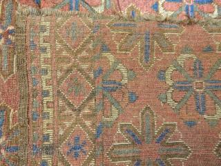 Antique Turkmen Ersari Besir Rug Fragment  Size.200x180cm