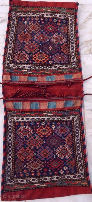 Antique Shahsavan Saddle Bag Sumak