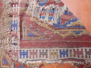 Antique Anatolian Karapınar Rug Fragment