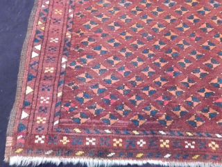 Antique Turkmen Ersari Prayer Rug