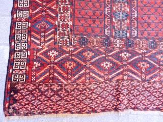 Antique Turkmen Tekke Ensi Rug