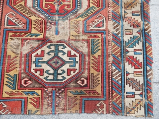 Antique Caucasian Sirvan Rug Fragment