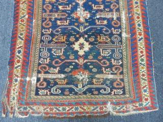 Antique Caucasian Perepedil Sirvan Rug