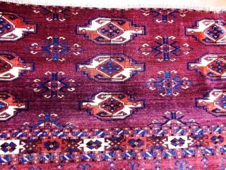 Antique Turkmen Ersari Rug Chuval Fragment