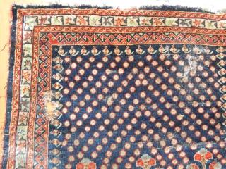 Antique Qashqaii Qashguly Rug Bagface