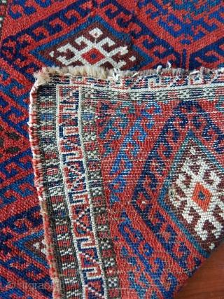 Antique Jaf Kurd Rug Bagface