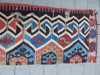 Antique West Anatolian Kilim part