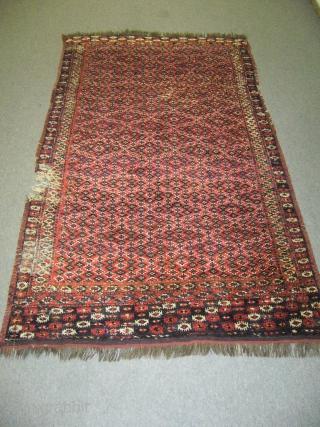 Antique Turkmen Chodor Rug