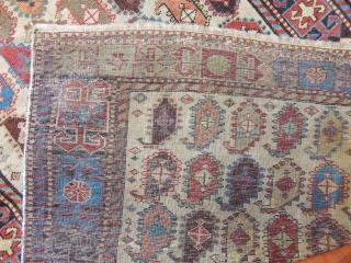 Antique Caucasian Akstafa Prayer Rug