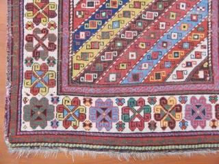 Antique Shahasavan Rug    Size:250x107 cm