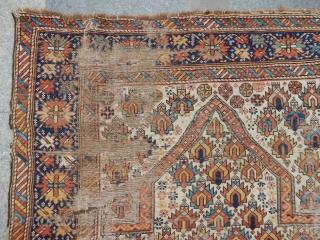 Antique Caucasian Marasalı Prayer Rug
