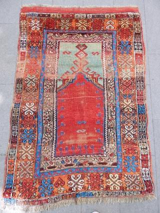 Antique Anatolian Aksaray Prayer Rug  Size.162x120cm