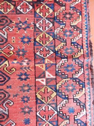 Antique Turkmen Besir Rug  size.200x115cm