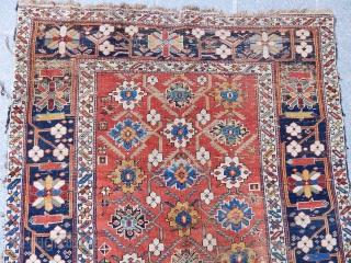 Antique Caucasian Kuba Sirvan Rug