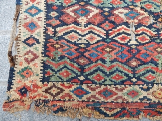 Antique Bijar Kilim Face