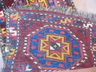 Antique Uzbek Rug Yastık