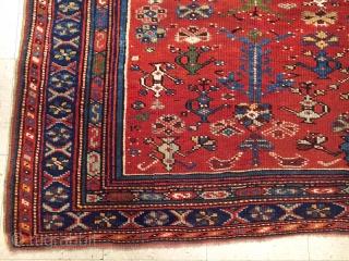 Antique West Anatolian Ushak Prayer Rug  size.6,8x5