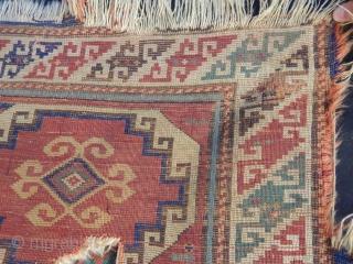 Antique Caucasian Rug Fragment