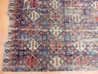 Antique Turkmen Chodor Rug Fragment