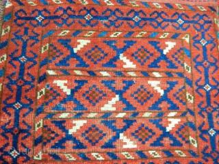 Antique Turkmen Ersari Rug  Bagface
