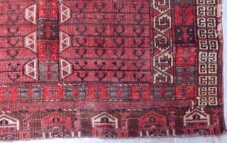 Antique Turkmen Arabacı Ensi Rug  Size.145x135cm