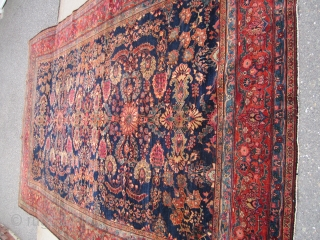 "antique farahan sarouk rug measuring 8' 4"" x 12' 8"" solid rug some wear good pile no holes. SOLDDDDDDDDDDDDDDDDDD"