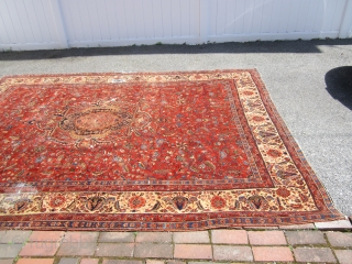 "measures 8' 7"" x 11' 6"" solid rug no dry rot clean damage side and a hole and some worn spot rare design and colors $499.00 plus shipping SOLDDDDDDDDDDDDDDDDDDDDDDDDDDDDDD"
