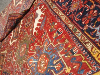 """persian karaja rug great rare size great colors solid rug no dry rot no damage some wear as shown 8'  x  10' 9"""" clean everything sells here check me outSOLDDDDDDDDDDDDDDDDD  ..."""