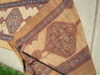 "antique classic design sarab runner measuring 42"" x 190"" condition is as shown worn old moth damage  crease solid rug no dry rot needs cleaning cheap money big profit remember everything  ..."