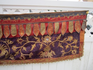 """south sumatra toran 1940 part of an estate of a friend dont know much about these was bought back in 1970 have 3 more 675.00 or best offer it measures 25"""" x  ..."""
